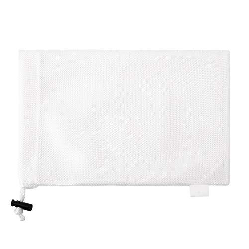 巾着のスポーツ バッグ ランドリー メッシュ バッグ 多機能 100% 洗濯機と乾燥機の安全なメッシュ バッグ エコフレンドリーな再利用可能なバッグ (ホワイト, 30.5cm X 45.7cm)