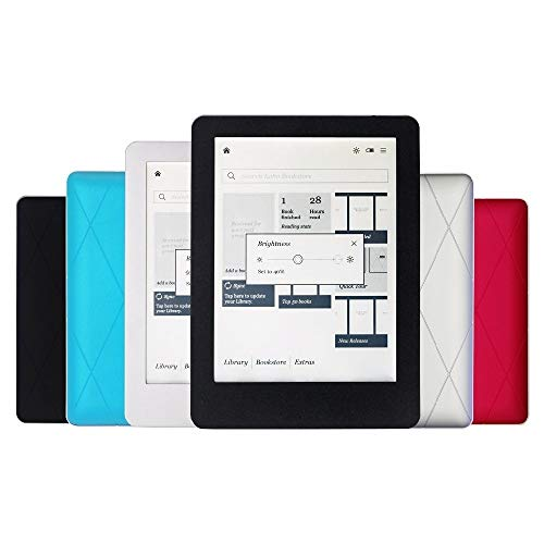 HUAI 4 Colori eBook Reader e-Ink da 6 Pollici 1024x768 eReader 2GB Front-Light (Bundle : Only e Book Reader, Color : White)