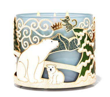 Bath and Body Works Arctic Critters 3 Wick Candle Holder.