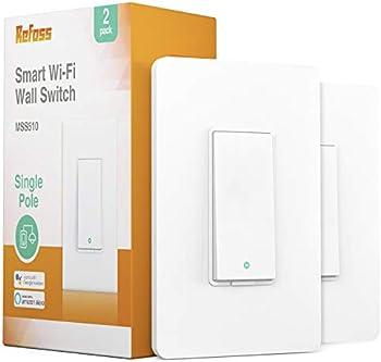 2-Pack Refoss 2.4Ghz Single-Pole Smart WiFi Light Switch
