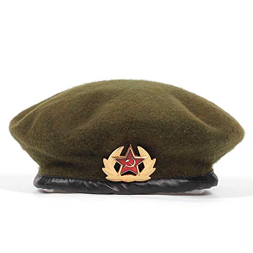 LMZXH&M Boinas del Ejército para Hombres Mujeres Emblema Nacional Boina Sombrero Adulto Gorras Ajustables, Verde Militar