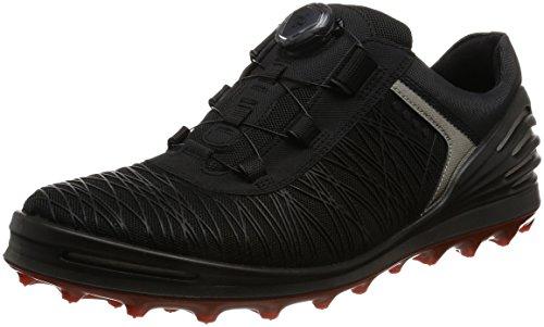 ECCO Herren Men's Golf CAGE PRO Golfschuhe, Schwarz (1BLACK), 39.5/40 EU