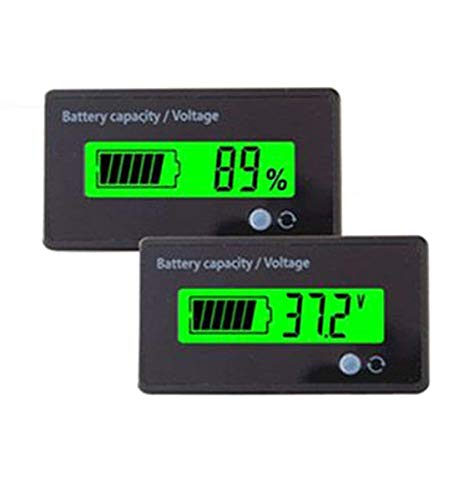 Save %8 Now! Multifunctional Battery Capacity Monitor 36V LCD Battery Fuel Gauge Indicator Meter for...