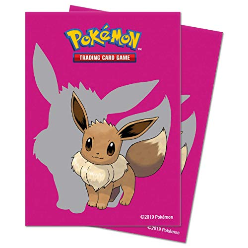 lively moments Pokemon Karten / Sammelkarten Hüllen Ultra-Pro Standart / 65 Stück in pink mit Evoli / Eevee Schutzhüllen
