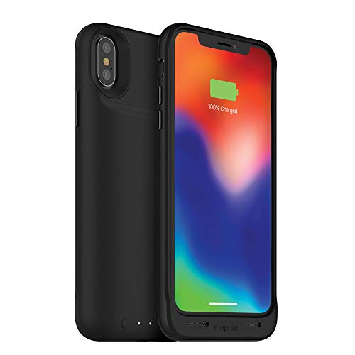 Mophie juice pack wireless - Qi Wireless Charging - Protective Battery Case Made for Apple iPhone X  Black (401002004)