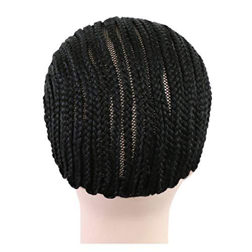 Lurrose 1PC Elastic Breathable Black Color Tangle Free Cornrow Crochet Braided Wig Cap Hairnet Hair Styling Tool for Making Braid