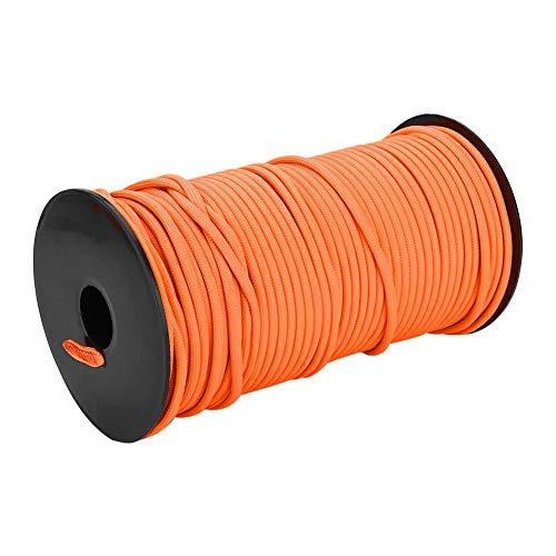 Wytino Corde d'escalade, Corde de Camp 100 m, 9 brins 4mm, Corde de lanière de Corde de Parachute Robuste, Ligne d'accessoires(Orange)
