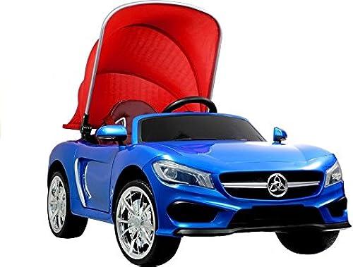 marca Coche Electrico para Niños Auto Alimentado con con con Batería Vehículo Eléctrico Control Remoto - Cabriolé con techo - azul  n ° 1 en línea