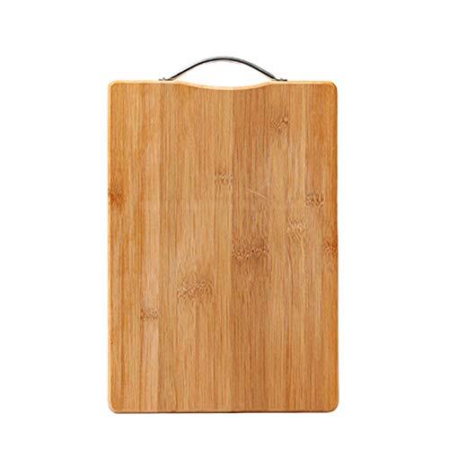 OMVOVSO Tabla De Cortar, Bambú Impermeable para Colgar Herramienta De Cocina Tablero De Corte Tablero De Corte Suplemento Dietético,Natural,Medium
