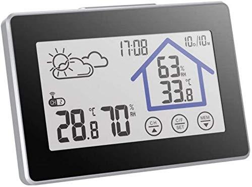 aipipl Capteur de prévision intérieur extérieur réveil écran Couleur Station météo capteur thermomètre hygromètre Compteur Chevet