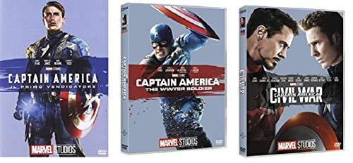 CAPTAIN AMERICA TRILOGIA - CAPTAIN AMERICA IL PRIMO VENDICATORE + THE WINTER SOLDIER + CIVIL WAR (3 FILM IN DVD) EDIZIONE ITALIANA