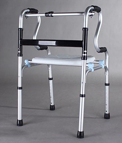 Guo Shop- Les personnes âgées avec le siège Walker Epaississants aluminium en alliage de personnes handicapées Quatre pieds Shui peut s'asseoir peut prendre un bain Salle de bain Tabourets