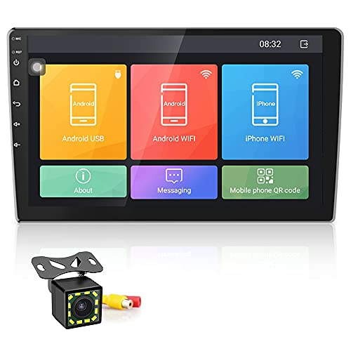 [2G+16G] Autoradio Android Touchscreen da 10 Pollici Lettore Stereo GPS CAMECHO WIFI Bluetooth 2 Din Sat Navi FM Collegamento Specchio del Telefono Cellulare Video per Auto Doppio USB
