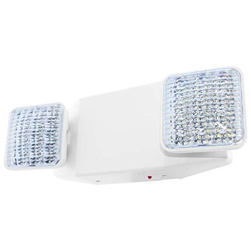 LFI Lights - UL Certified - Hardwired LED Standard Emergency Light - Square Head - EL2WBB