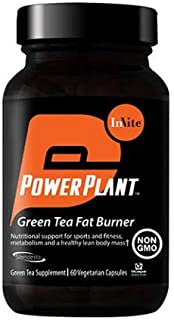 Invite Health Green Tea Fat Burner, Nutritional Support for Sports and Fitness, 60 Vegetarian Capsules (Pack of 3)