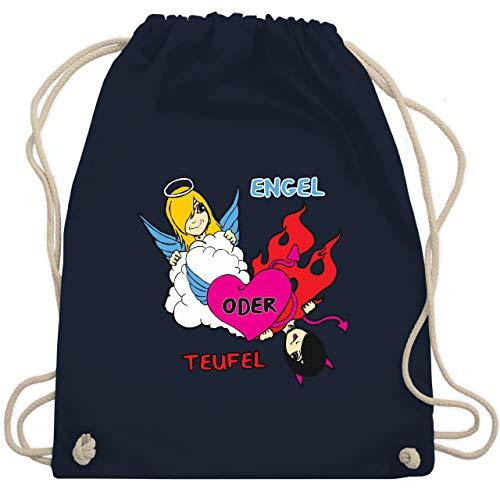 Shirtracer Sprüche Kind - Engel oder Teufel - Unisize - Navy Blau - frau des teufels - WM110 - Turnbeutel und Stoffbeutel aus Baumwolle