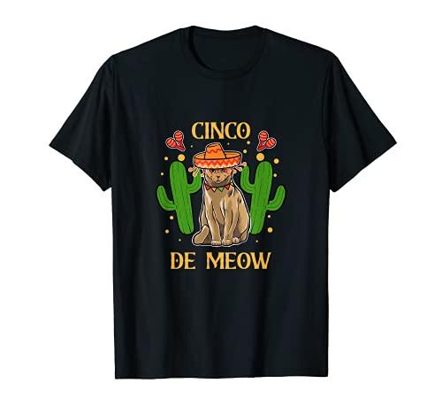 Cinco De Meow Taco Cat Mxico Bandera Mexicana Lindo Animal Pet Camiseta