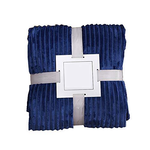 Cobijas de Invierno Grandes, Morbuy Lana de Coral Bedding Manta de Felpa Suave Aire Acondicionado de Oficina Mantas de Sofá Cama para Bolsa de Dormer (70x100cm,Azul Marino)