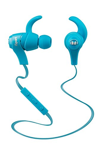 Monster Casque intra auriculaire sans fil iSport Bluetooth Haute isolation sonore - Bleu