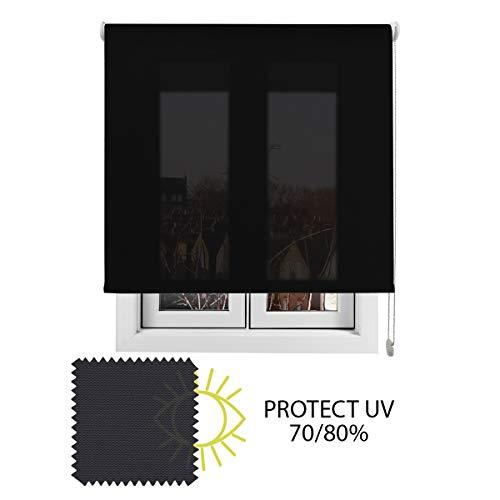EB ESTORES BARATOS Estor Luminoso TECNOSCREEN/Bloqueo UV 70% Termoregulador y acústico. LO AJUSTAMOS A SU Medida Ancho x Alto. Color: Antracita. Medidas: 220cm x 160cm