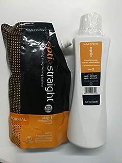 MATRIX Opti. Straight Normal Straightening Cream (500 ML) & Neutralizer (500 ML) (Set of 2)