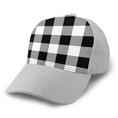 Buffalo Lumberjack Baseballkappe mit gebogener Krempe Dacron Casual Denim Hip Hop Caps Snapback Caps Hat Gr. One size, grau