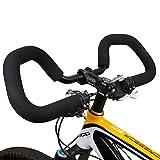 ZNEU Mariposa Manillar de Bicicleta, Bicicleta Manillar de con 400mm Esponja Grips, para Senderismo Ciclismo Bicicleta Bicicleta de Carretera