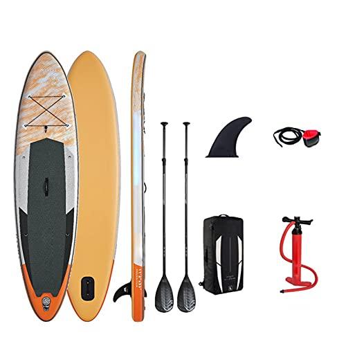 paritariny Tabla de surf inflable para remo, tabla de surf de 11 pies 2 pulgadas, tabla de surf inflable Ma-rina Stand up paddle deportes acuáticos surf tabla de surf (color : juego A con asiento)
