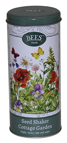 Wildflower Seed Shaker Gift Tin Perennial Bulk Butterfly and Bee Attracting Pollinating Seeds