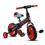 OLYSPM 3 in 1 三輪車 自転車 バランスバイク 子供用トライ,車体を大きくする,幼児 子ども 軽量,簡単.2-6歳幼児に向け 誕生日プレゼントに最適 アウトドア(赤)