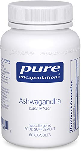 Pure Encapsulations - Ashwagandha High Potency Extract 500mg - Indian Ginseng/Winter Cherry Supplement to Support Cognitive and Joint Function - 60 Vegetarian Capsules