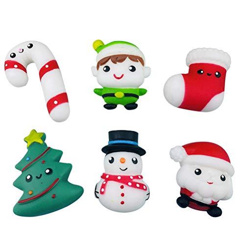 Hinder Juguetes elásticos de Navidad, 6 piezas de juguetes elásticos de Navidad para niños, juguetes para aliviar el estrés, juegos sensoriales, decoración de fiesta