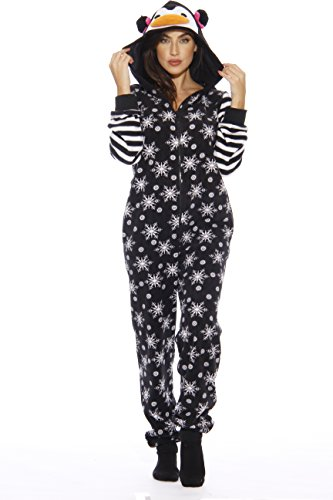 6255 - L Just Love Adult Onesie / Pajamas, Penguin, Large