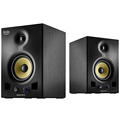 Hercules Monitor 5: pair of active, bi-amplified monitoring speakers (2 x 80 watts), each featuring a 5-inch/12.7-cm woofer