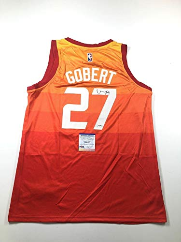 Rudy Gobert Signed Jersey - PSA/DNA Certified - Autographed NBA Jerseys