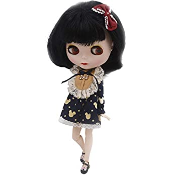 1/6 BJD Doll 4-Color Changing Eyes Matte Face and Ball Jointed Body Dolls 12 Inch Customized Dolls Can Changed Makeup and Dress DIY Nude Doll Sold Exclude Clothes Black