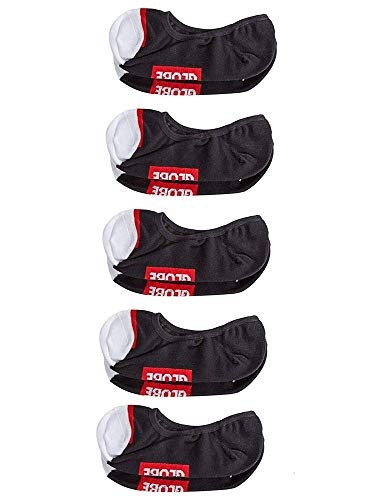 Globe W/Tipper Invisible Sock 5 Pack Unisex - Erwachsene Socken M Schwarz