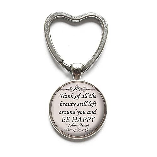 Thik of All The Schlüsselanhänger mit Zitat – inspirierendes Schmuck-Geschenk für Frauen – #268