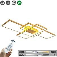 LEDの長方形の天井灯モダンな調光可能なシャンデリアの金属のアクリルスクエアランプシェードベッドルームスクエア天井ランプリビングルームのペンダントランプダイニングテーブルインテリア照明、90cm(72W)