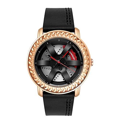 SANDA Relojes Mujer,Mira el Reloj del cinturón de la Moda de los Hombres de los Hombres del Reloj de los Hombres-Dorado