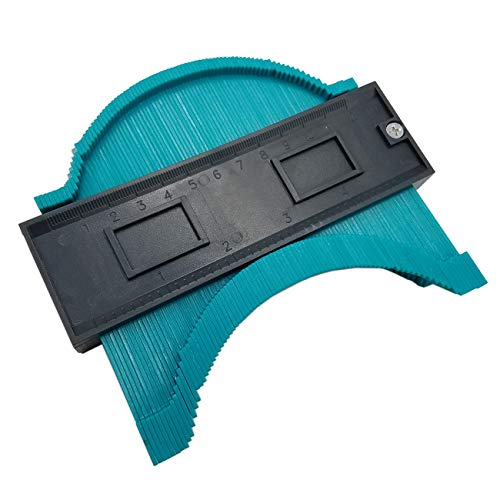 Irregualr Kunststoff Profil Copy Gauge Konturmesser Duplizierer Standard Holzmarkierungswerkzeug Fliesen Laminat Fliesen Werkzeuge (schwarz & grün) JBP-X