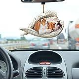 Zonary Hund niedlichen hängenden Ornament mit schlafenden Engel hängenden Ornament Geschenk Anhänger hängenden Ornament niedlichen 2-seitigen Glimmer Material Liebhaber Hund Ornament