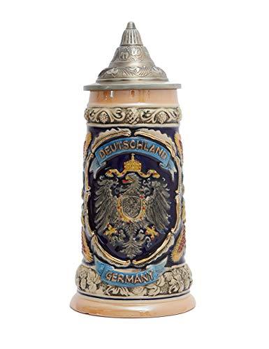 arra de Cerveza Alemana Amoy-Art Con escudo de águila Imperial 0.6L