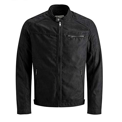 JACK & JONES Mens JJEROCKY NOOS Jacket, Jet Black, L
