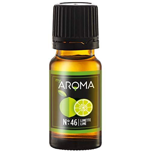 myAROMA   No. 46 (Limette, 10 ml)   Rein natürliches Aroma   Geschmackstropfen zum Kochen, Backen & Mixen   Zuckerfrei & ohne Süßung