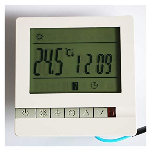 Controladores de temperatura de visualización digital Controlador de temperatura 3A / 16A / 25A, pantalla de pantalla LCD WiFi semanal programable habitación termostato ( Color : 16A without WiFi )