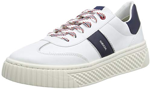 Geox D LICENA B, Zapatillas Mujer, Blanco Azul Marino, 39 EU