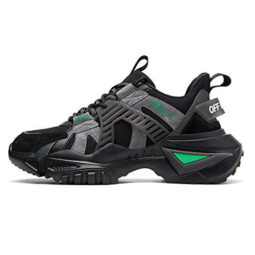 Magnifier Zapatillas de Deporte para Hombre Zapatillas Deportivas Ligeras Transpirables de Moda Tenis Zapatillas Informales para Caminar,Negro,40
