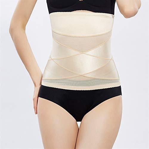 Faja Lencería para Adelgazar Post Partum Slim Cinturones para Mujer Cintura Trainer Cuerpo Shaper Tummy Control Cintura Corsé Cinturón Deporte (Color : Beige, Size : 3-XL)
