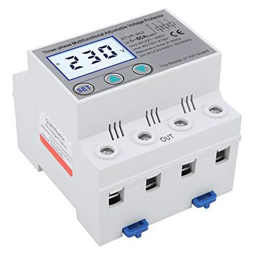 Spannungsschutz, Einstellbarer Spannungsschutz, 3-Phasen-LCD-Multifunktions Selbstrücksetz STVP-932 230V/400VAC mit Vollständigen Funktionen, Stabiler Leistung und Einfacher Bedienung(80A)